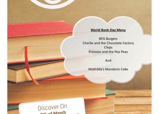 World Book Day Menu